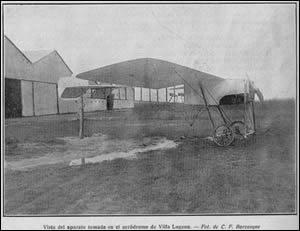 Un Castaibert IV en el Aerodromo de Villa Lugano, en 1912