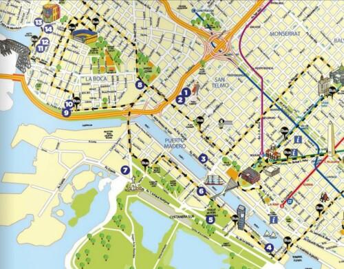 Mapa de la Milla Cultural del Sur