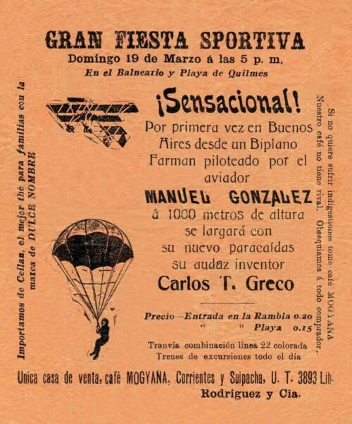 Gran Fiesta Sportiva, el 19 de marzo de 1914