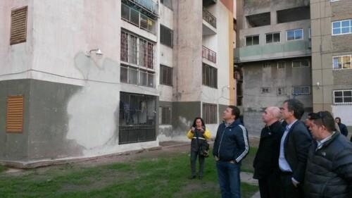 Recorrida de funcionarios por el complejo urbano Soldati