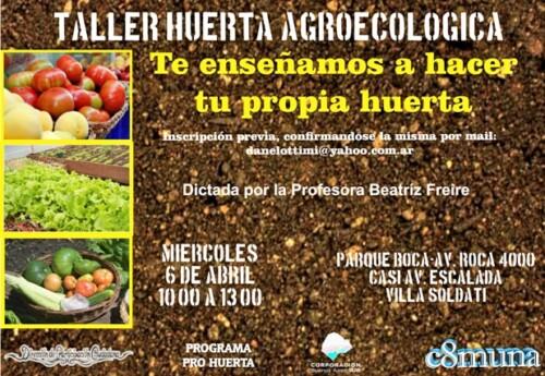 Taller de Huerta Agroecológica en la Comuna 8