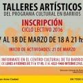 Talleres Gratuitos 2016 del Centro Cultural Saladiyo